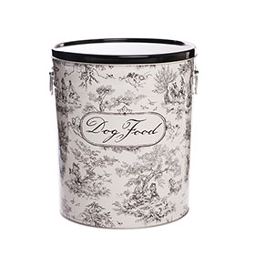 Toile Dog Food Storage Buckets